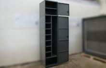 Шкаф тип А-Ф в открытом положении вид сбоку
