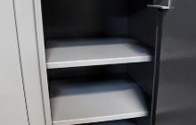 Металлическая полка шкафа оружейного