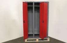Фотография металлического шкафа в открытом виде ШОМ-01-02
