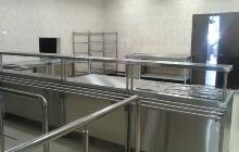 Солдатская столовая установка линии раздачи еды