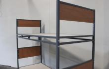 Фото двухъярусной кровати вид сбоку