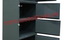 Фотография металлического четырех ячеечного шкафа