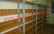 Деревянно металлические стеллажи для книг