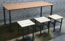 Фото обеденного стола типа Ф с тремя стульями