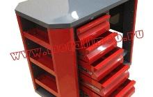 Инструментальная тележка с открытыми ящиками