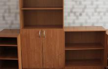 Фото шкафа комплекта офисной мебели общий вид