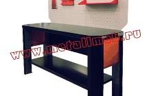 Фото беcтумбового слесарного стола (вид сбоку)