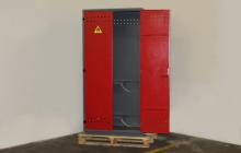 Шкаф для газовых баллонов в открытом виде