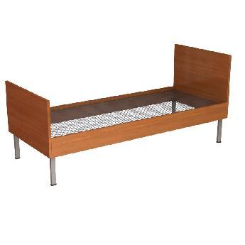 Кровать бытовая одноярусная со спинками и царгами из ЛДСП