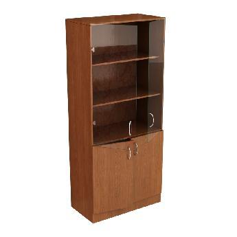 Шкаф канцелярский. Тип 3 (двери верхней секции стеклянные)