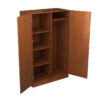 Шкаф для одежды комбинированный двухстворчатый