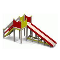 Детские горки c площадками
