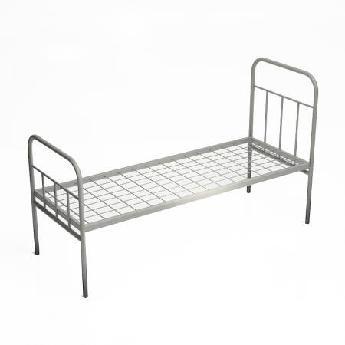 Металлическая одноярусная кровать эконом класса