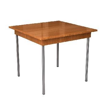 Стол обеденный на 4 человека на металлическом каркасе
