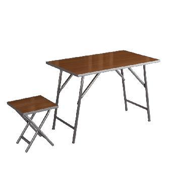 Комплект полевой складной мебели (стол раскладной и 4 табурета раскладных на ножках из дюралюминиевых труб)