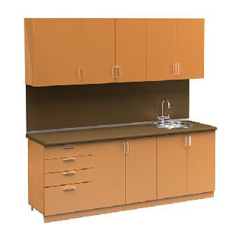 Набор кухонной мебели с мойкой