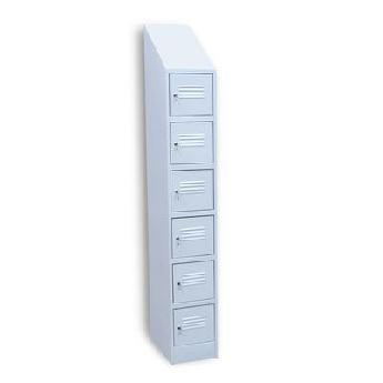 Шкаф архивно-складской на 6 отделений с наклонной крышей