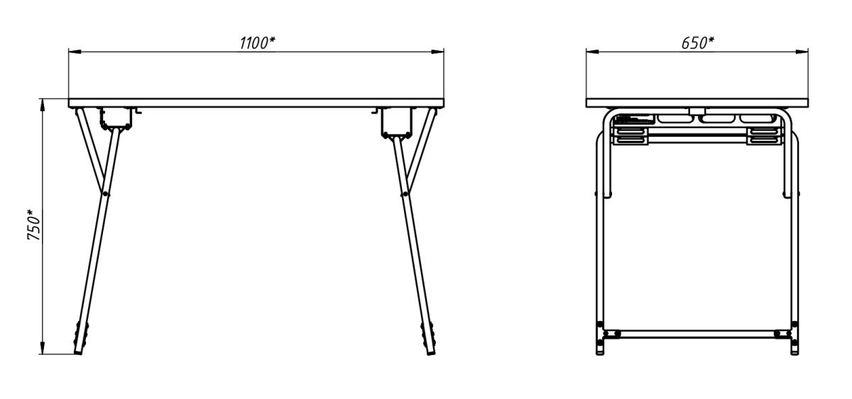 Чертеж стола раскладного