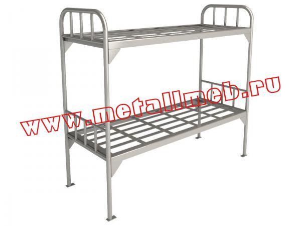 Металлическая двухъярусная камерная кровать КДК 1.1