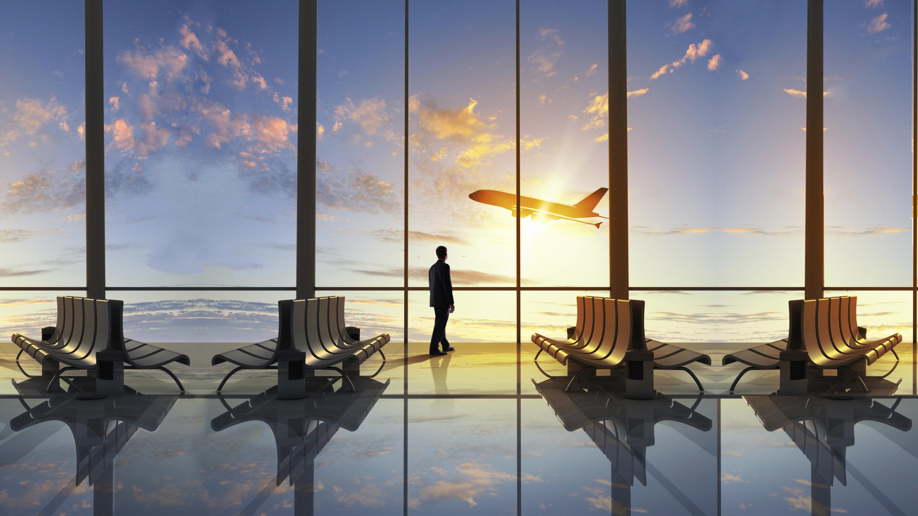 Залы ожидания в аэропортах