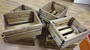 Фотография деревянных ящиков