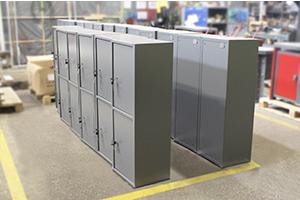 Общий вид металлических сейфов