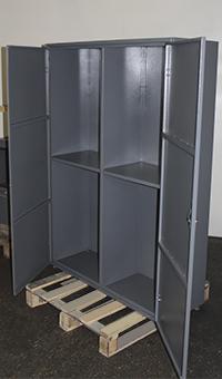 Шкаф в открытом виде для хранения бронежилетов