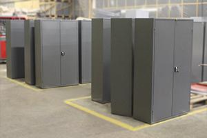 Общий вид металлических шкафов