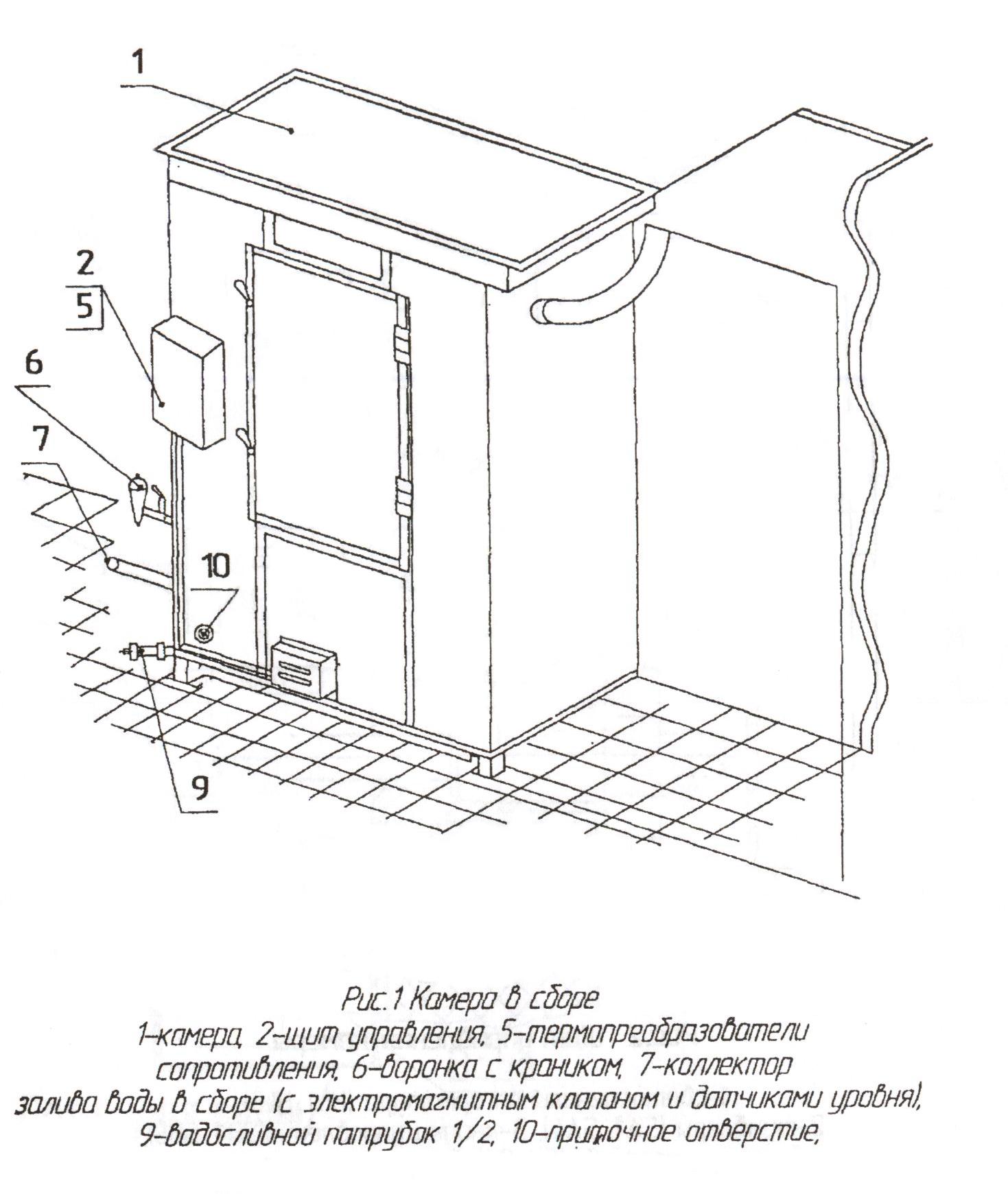 Общаяя схема элементов ДЭЗ камеры