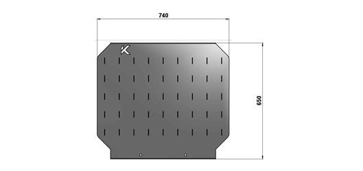 Экран для слесарного стола длиной 740 мм