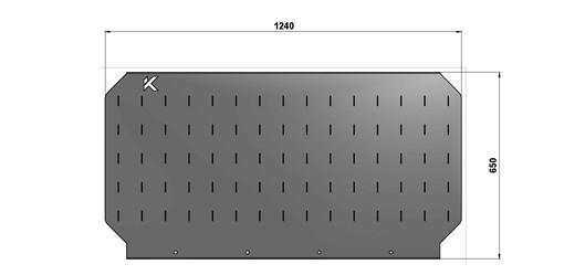 Экран для слесарного стола длиной 1240 мм