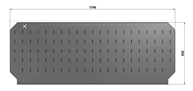 Экран для слесарного стола длиной 1740 мм
