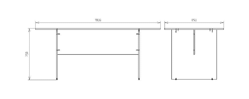 Чертеж стола для заседаний КРОН-СП-20