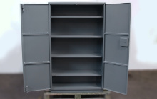 Шкаф металлический в открытом виде