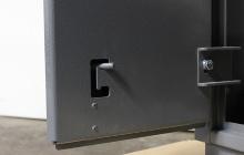 Вертикальный шпингалет оружейного шкафа