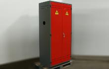 Шкаф для хранения двух газовых баллонов
