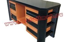 Фото двухтумбового слесарного стола (вид сверху)
