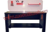 Фото беcтумбового слесарного стола (вид спереди)