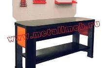 Бестумбовый слесарный стол с перфорированным экраном (вид сбоку)
