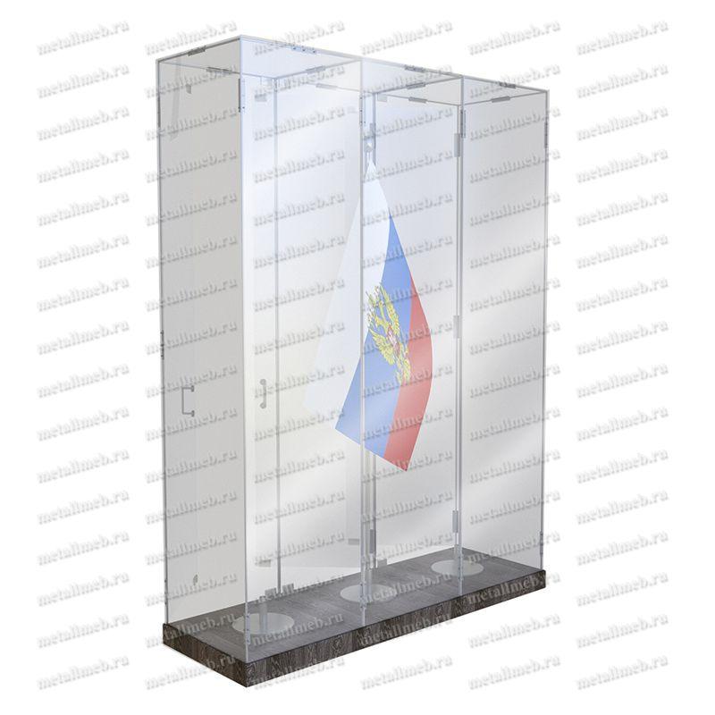 Шкаф стеклянный для хранения Боевого знамени тип В