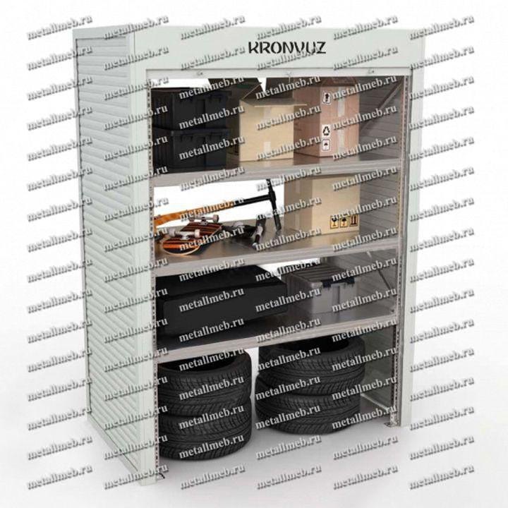 Металлический шкаф с рольставнями в гараж
