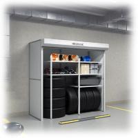 Фото металлического шкафа с рольставнями для подземных парковок