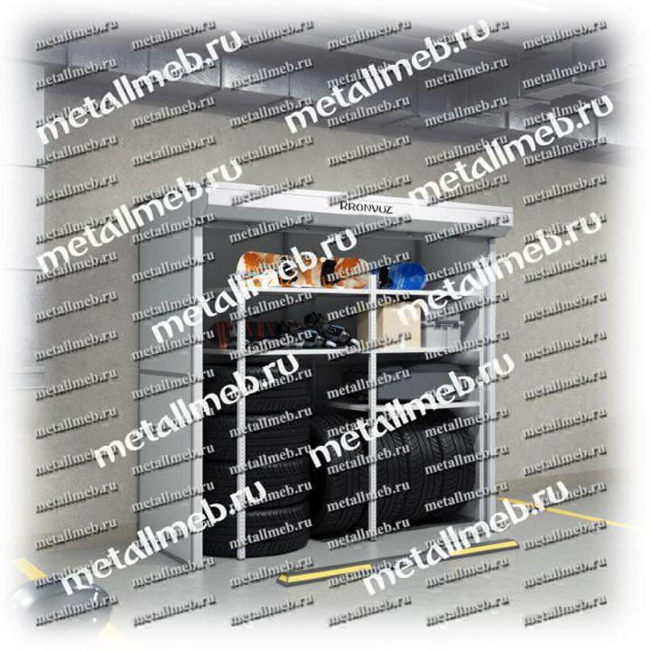 Металлический шкаф с рольставнями для подземных парковок